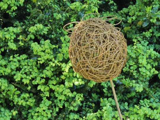 Poppy Seed Head Sculpture in Willow