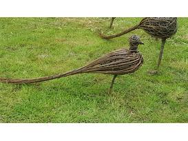 Willow Pheasant Sculpture