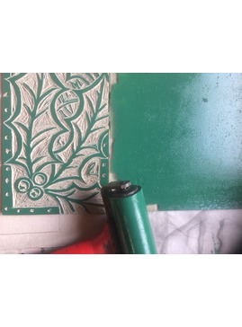 Handprinted Lino Cut Christmas Workshop