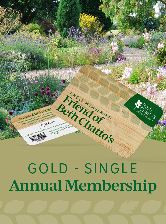 Friend of Beth Chatto's annual pass Gold Card